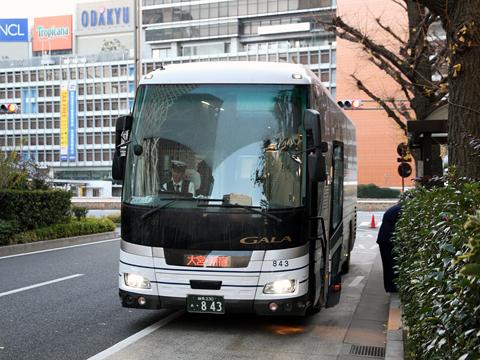 国際興業「しもきた号」 ・843 新宿高速バスターミナル到着