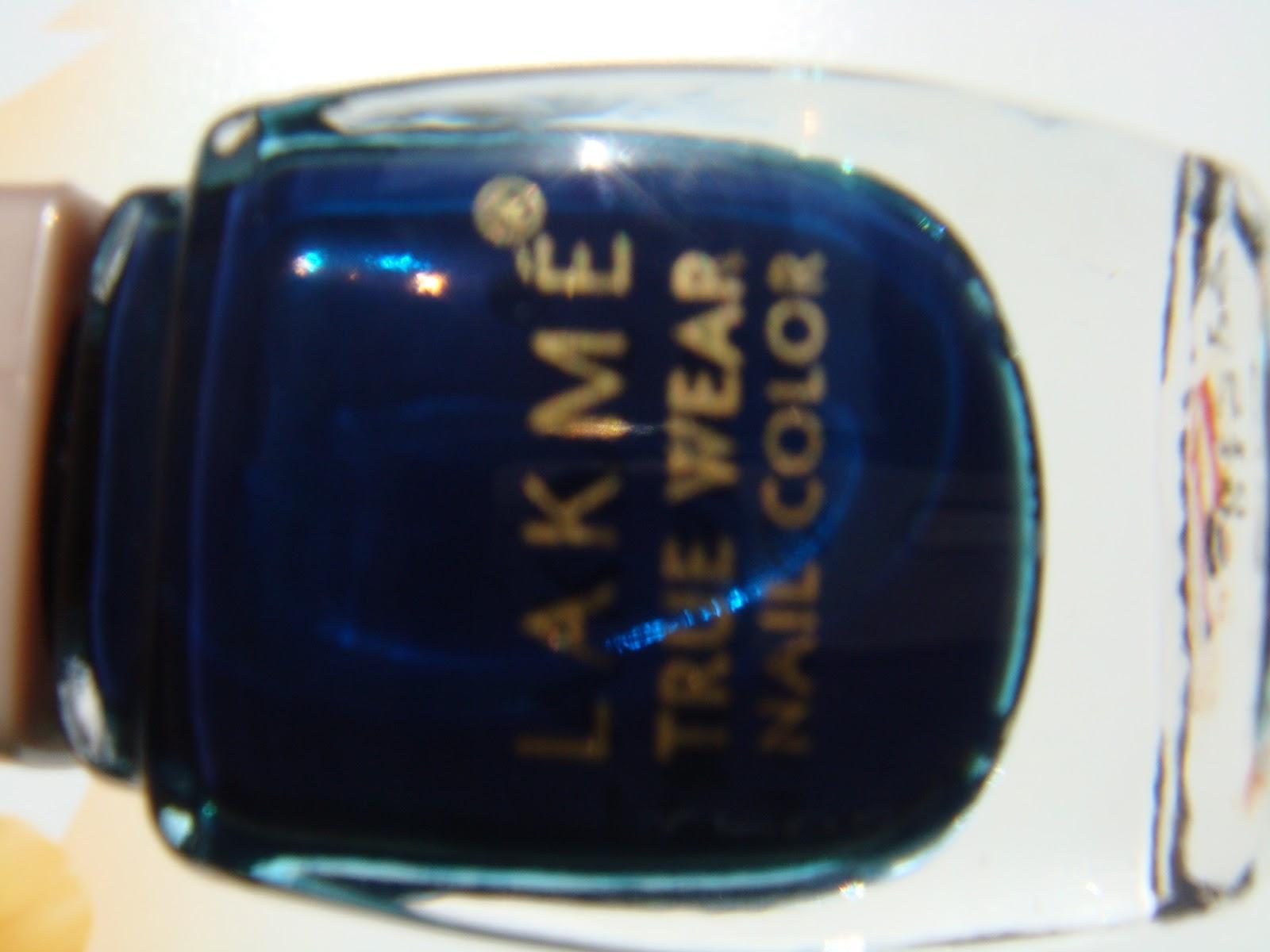 Indian Beauty Central: LAKME TRUE WEAR NAIL POLISH-DARK BLUE