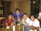 Con Scouts de: Taiwan: Simon; Pakistan: Kashif; y el otro representante de Colombia: Juan Manuel