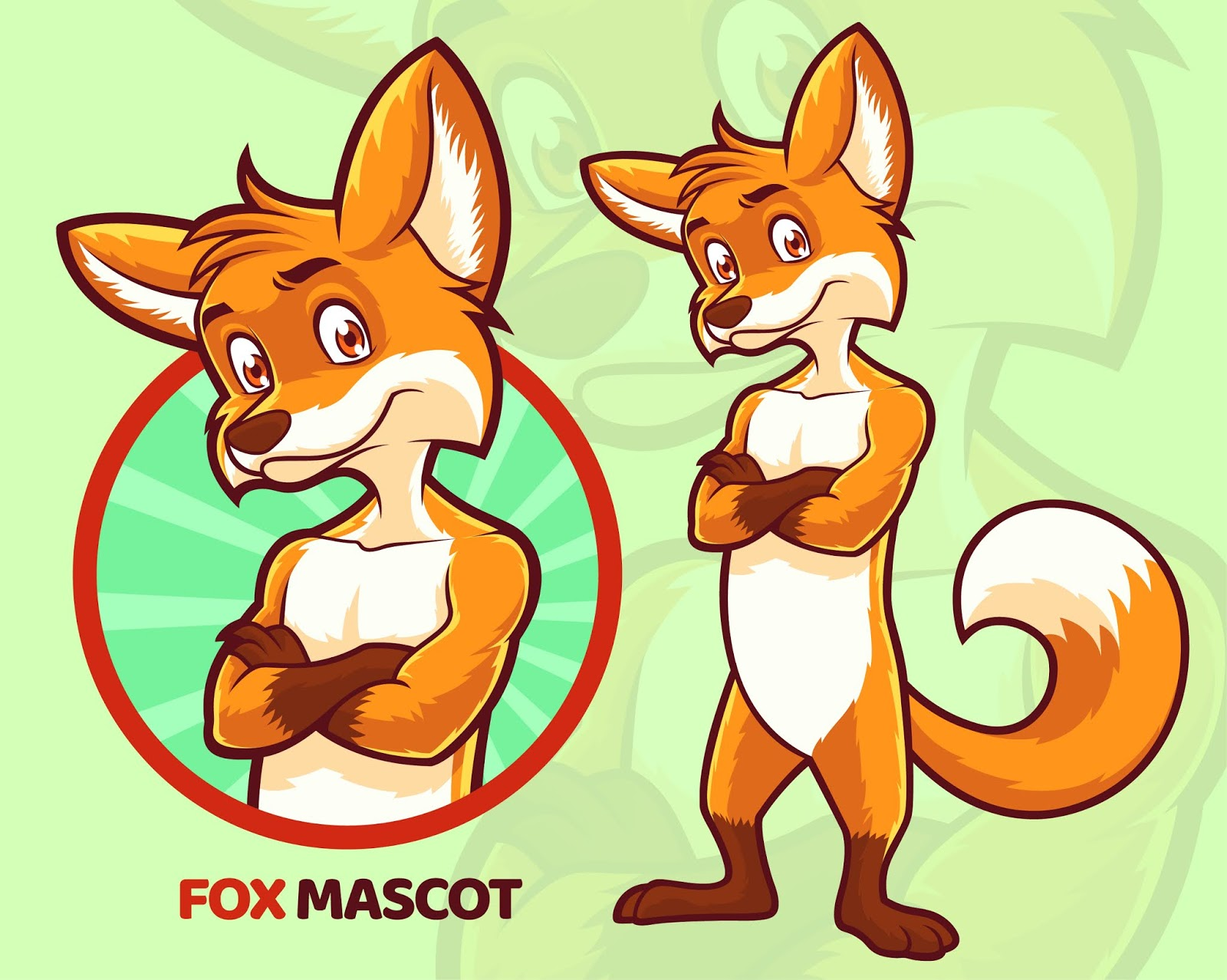 Fox Mascot Design Free Download Vector CDR, AI, EPS and PNG Formats