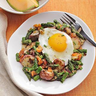 Potato, Asparagus & Mushroom Hash.