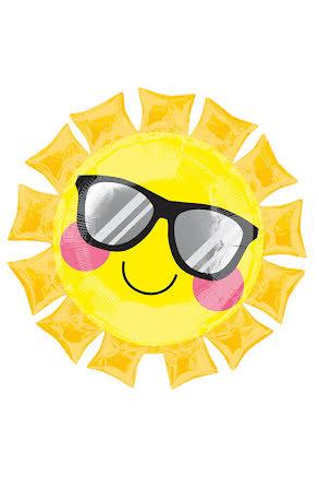 Folieballong, solstråle