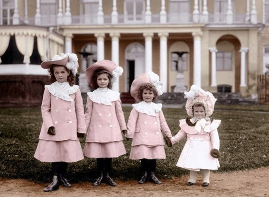 The Great Princesses of Russia Olga, Tatiana, Maria, and Anastasia Romanova, 1902