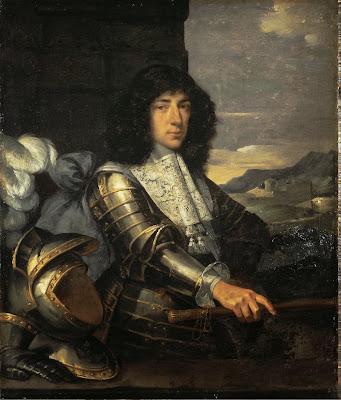 Sébastien Bourdon - Portrait of a Man in Armour (French Marshal)