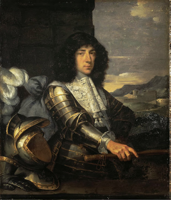 Sébastien Bourdon - Portrait of a Man in Armour (French Marshal)