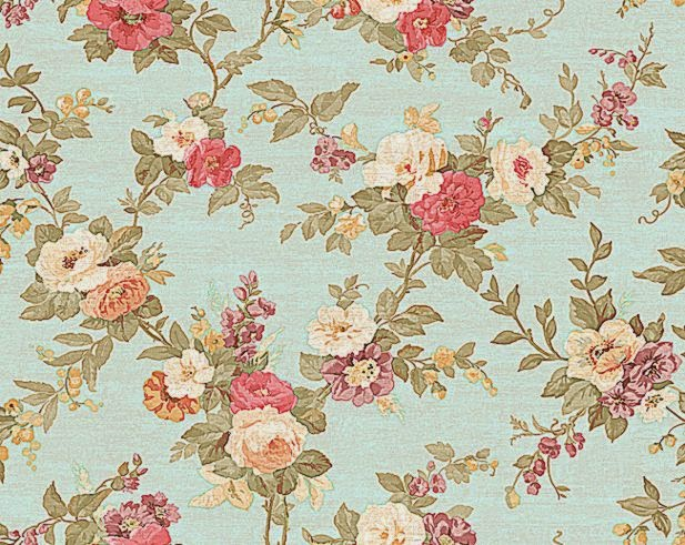 Blue Pink Ww4419 Rose Fl Wallpaper By York