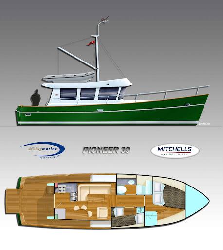 Dibley designed Mitchells Marine 'Pioneer 39'