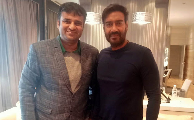 Bollywood Superstar Ajay Devgn With Film Critic Murtaza Ali Khan