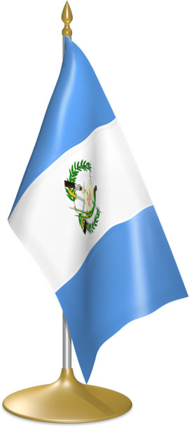 Guatemalan table flags - desk flags