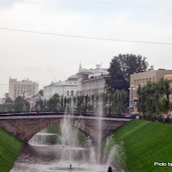 A lovely canal runs through the city