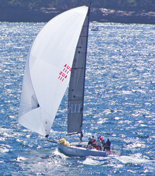 J/111 offshore racing sailboat- sailing Sydney, Australia