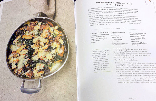 Mushrooms and Greens with Toast recipe from the book Seven Spoons by Tara O'Brady
