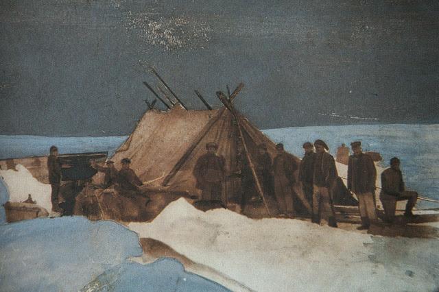 텐트를 친 스웨덴 탐험대