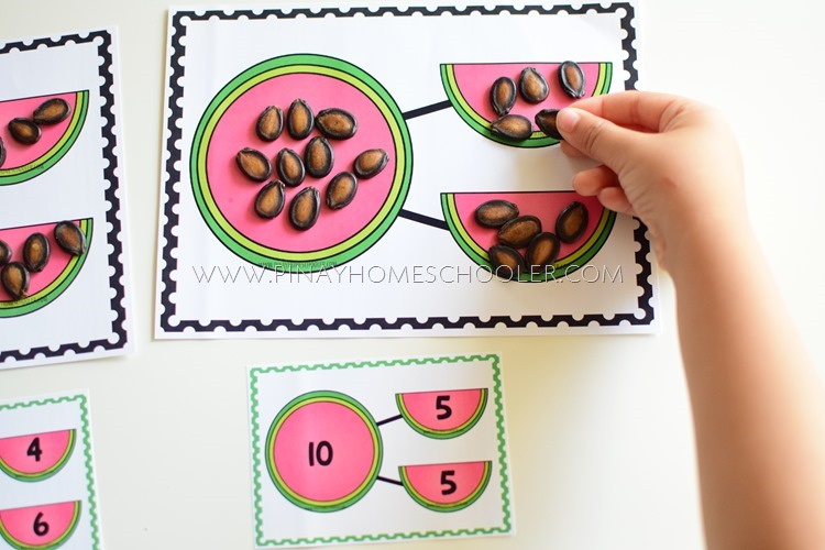 Watermelon Themed Number Bonds