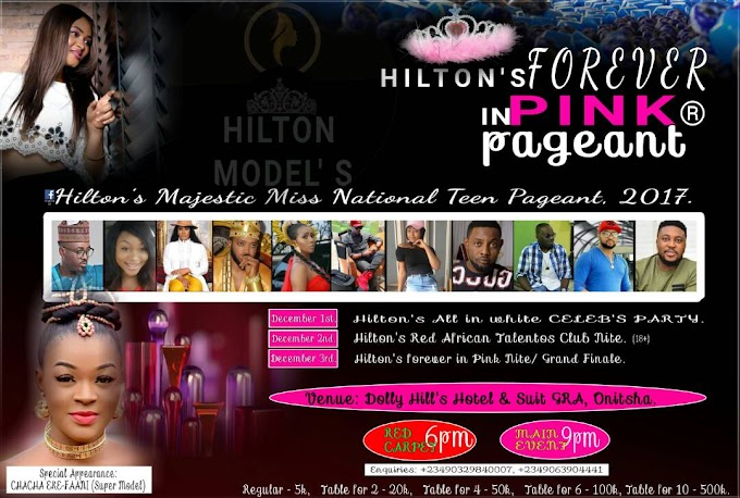 "Hilton's Majestic Miss National Teen Pageant for 2017, Batch ""B"" enrollment is on... To be a part of it, follow WhatsApp link beneath"