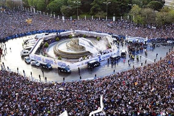 Cibeles preparada para la victoria del Madrid en la Copa del Rey