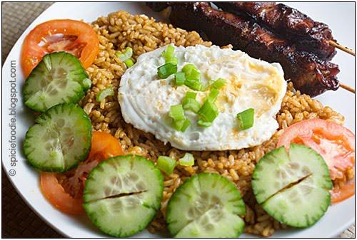 Nasi Goreng fried rice, fried egg
