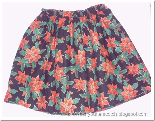 Simple casual poinsettia skirt.