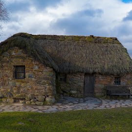 Leanach Cottage by Luke Albright - Buildings & Architecture Public & Historical ( sky, historic, old, grass, cottage, house, scotland,  )