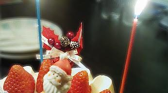 クリスマスケーキ半分