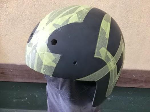 image - カスタムペイント工程 ジェットヘルメット 艶消しスピニングリーフ