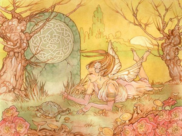 Elf Angel And Turtle, Spirit Companion 4