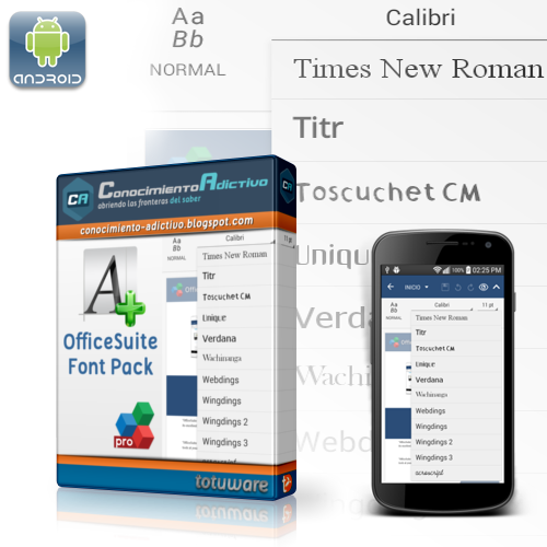 OfficeSuite Font Pack 1.1.5