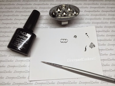 liverpoollashes liverpool lashes cnd shellac fine detail nail art butterfly