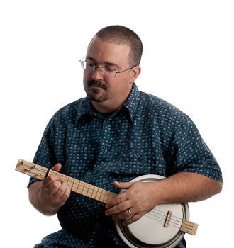 Matt Brodeur playing his homemade banjolele