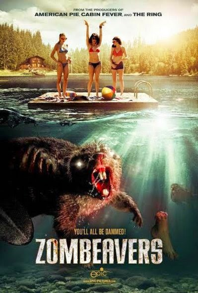 Poster Of English Movie Zombeavers (2014) Free Download Full New Hollywood Movie Watch Online At Alldownloads4u.Com
