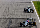 Jenson Button leads Kevin Magnussen