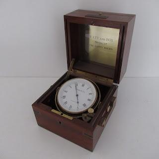 Tiffany & Co. Swing Desk Clock Mahogany & Brass Box