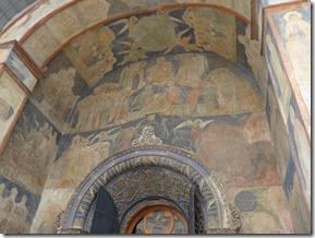Cathedrale de l'archange. porche eglise nécropole des princes de Moscou et des premierqs tsars. Consacrée à l'archange Michel protecteur de l'armée Russe