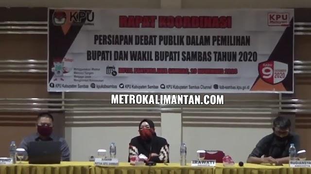 Gelar Rakor, KPU Sambas Siapkan Debat Publik