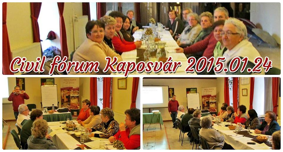 Civil fórum Kaposvár 2015.01.24