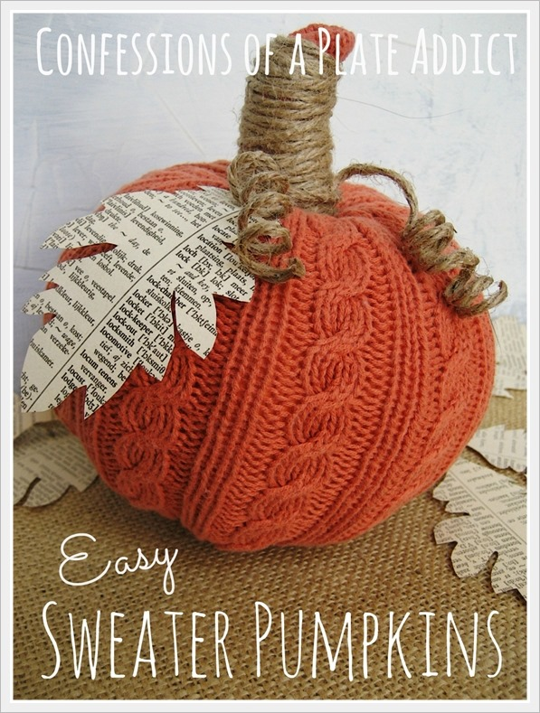 CONFESSIONS OF A PLATE ADDICT Easy Sweater Pumpkins