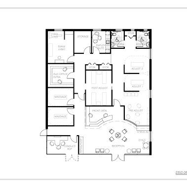 Chiropractic office floor plan floor matttroy for Chiropractic office layout examples