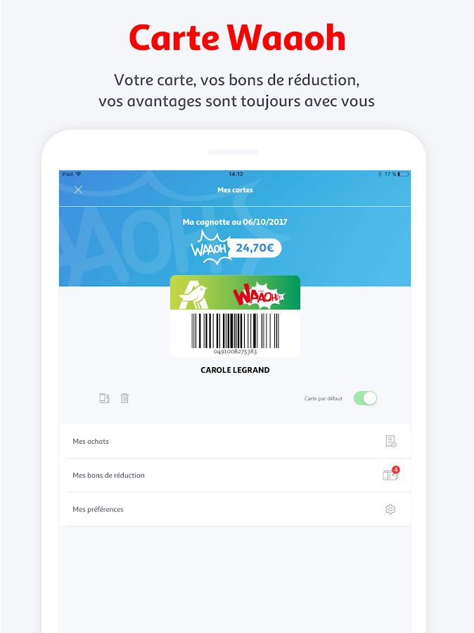 Auchan france applications android sur google play - Carte de fidelite auchan fr ...