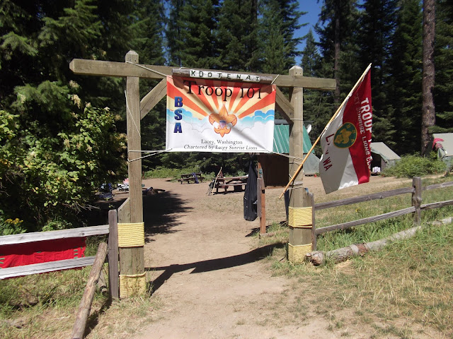 The entrance to our camp site.