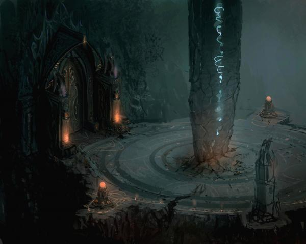 Mysterious Temple Of Deep, Temples And Shrines
