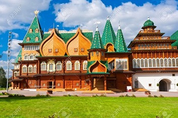 Wooden palace in park Kolomenskoe, Moscow, Russia