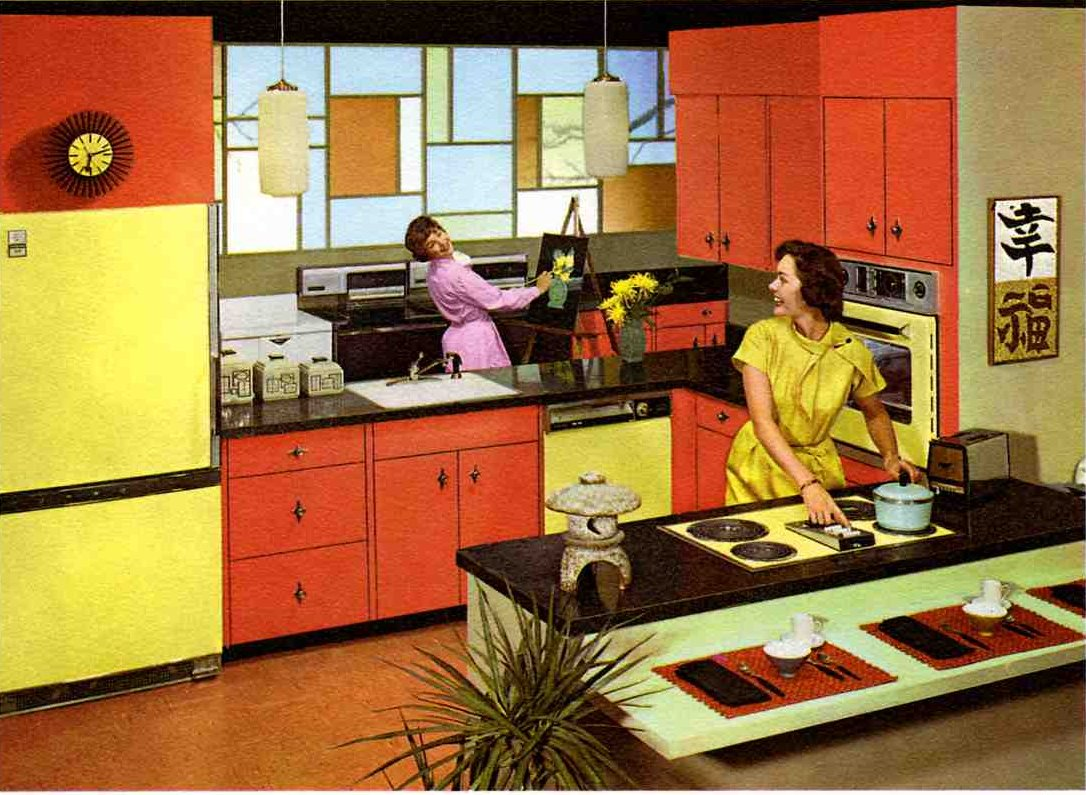Red And Yellow Kitchen Oh So Lovely Vintage Orange You Glad