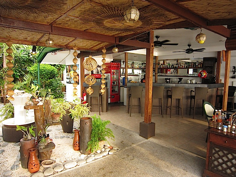 bar and restaurant of Sunset Bay Beach Resort in San Fernando, La Union