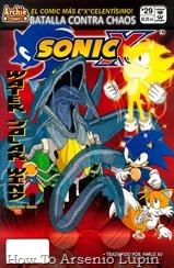 """Actualización 01/02/2019: Se agrega el numero 29 de Sonic X por Pablo_Av para The Tails Archive y La casita de Amy Rose. Al combinar el poder de tres robots de energía """"verde"""" (viento, sol y agua), ¡el Dr. Eggman ha creado el robot monstruo más devastador de todos los tiempos! Este robot imparable está arrasando la ciudad, y parece que Sonic no puede detenerlo, ¡a menos que intente algo """"súper""""!"""