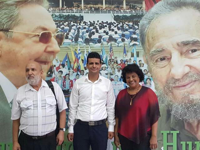 الأمين العام للطلبة الصحراويين في زيارة لجامعة أمريكا اللاتينية للطب بهافانا الكوبية