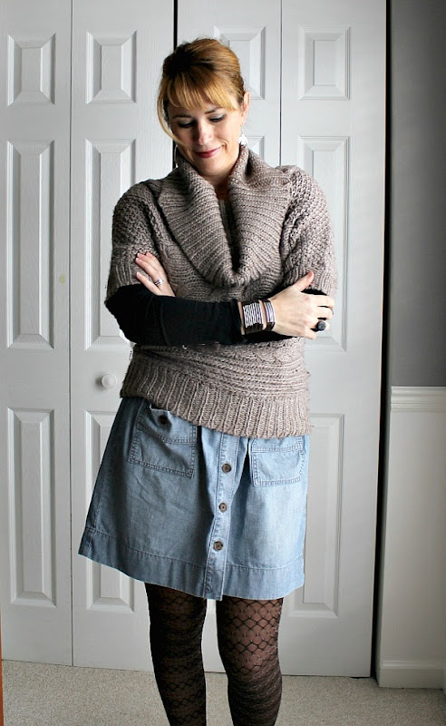 cowl-neck-sweater-denim-skirt-5