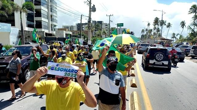 Coisas que só tem no Brasil: Feijoada, Samba e manifestação a favor do Governo