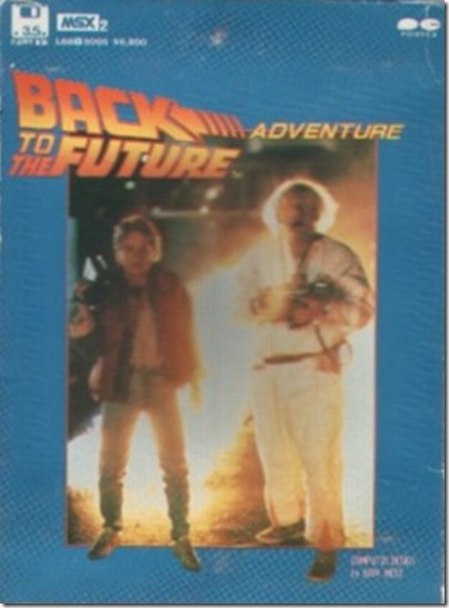 Back to the Future (Msx 2 Cover)