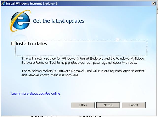 Installing Internet Explorer 8 64 Bit On My Computer  - Techyv com