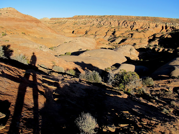 Long shadows above Northeast Spur Fork